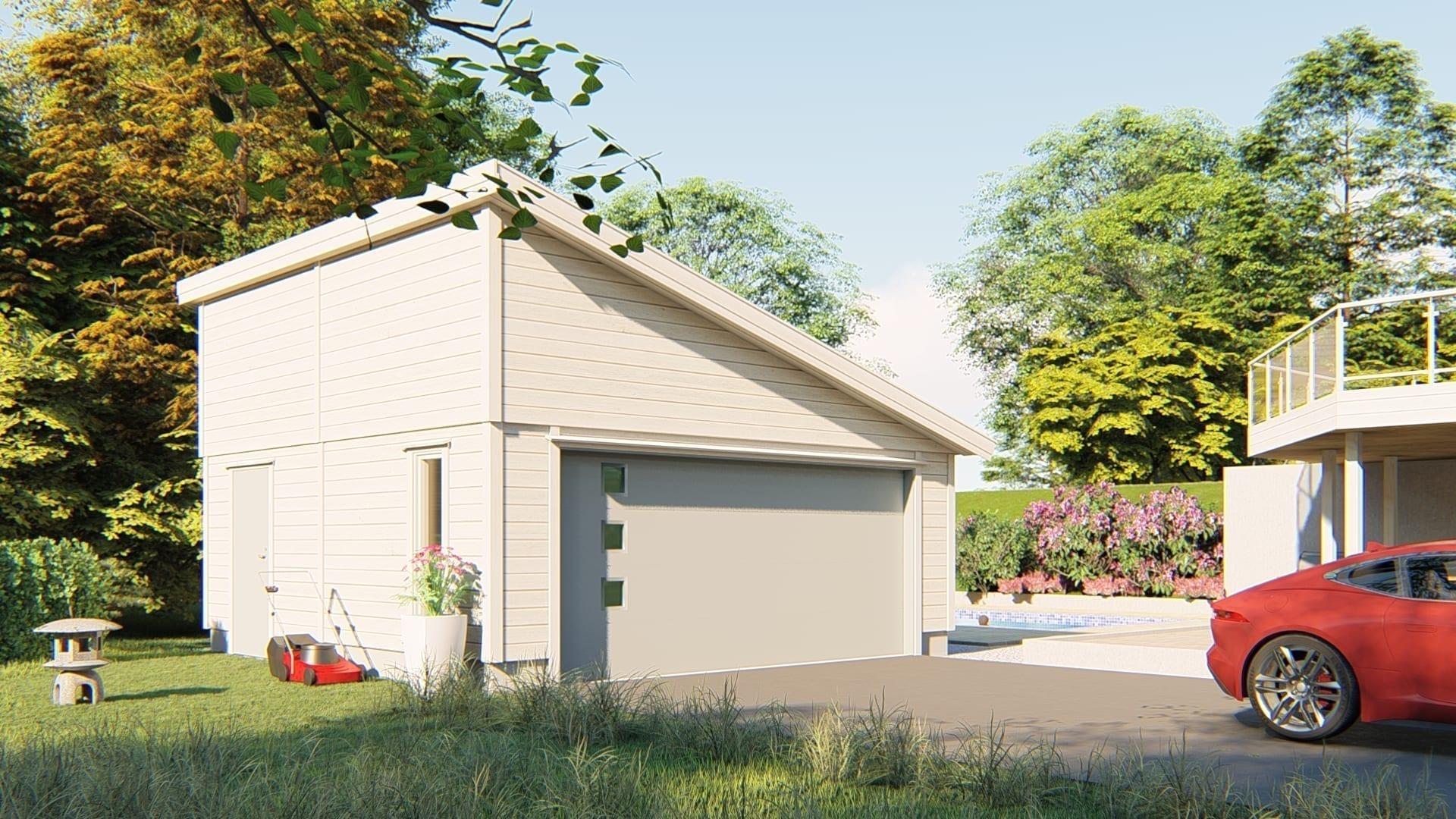 Priser byg selv garage Byg selv